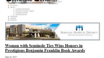 Woman with Seminole Ties Wins Honors in Prestigious Benjamin Franklin Book Awards