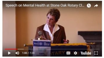 Tyra Manning Speaks at Stone Oak Rotary about the Impact of Mental Illness