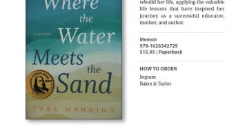 Where the Water Meets the Sand ad in IBPA Winter 2017 Bookstore Catalog